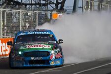 Mark Winterbottom 2015 6x4 or 8x12 photos V8 Supercars FORD Pepsi BURNOUT FPR
