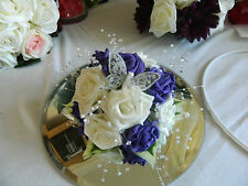 Stunning Wedding flowers top teir cake flower topper many colours