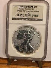 2006 P Reverse Proof American Silver Eagle $1 NGC PF 70 Eagle 20th Anniversary >