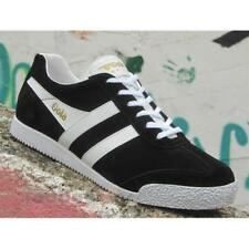 Gola Harrier Suede CMA192BP Mens Shoes Black White Casual Fashion Sneakers