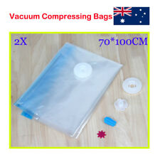 Large Space Vacuum Storage Bags for Clothes Blanket Compressed Vac Pack 70X100cm
