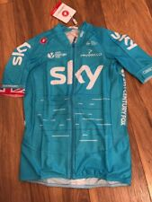 Team Sky Cycling Castelli Pinarello Short Sleeve Climbers 3.1 Blue Jersey Large