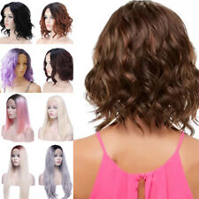 Hot Sell Lace Front Ombre Full Wig Blonde Brown Dip Dye Women Cosplay Party Gt5