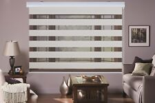 MODERN Zebra Double Roller Blinds Commercial Quality Black and Beige