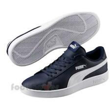 Puma Smash v2 L 365215 05 Mens Peacoat White Leather Sneakers Casual Shoes