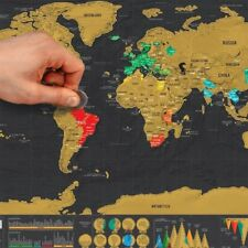 Map Scratch World Travel Edition Where You Travel Poster Layer Off Gift Atlas