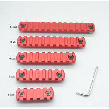 Red 5/7/9/11/13 slot M-lok Picatinny Rail Section for M-lok Handguard System