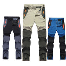 Mens Outdoor Quick Dry Breathable Hiking Fishing Cargo Casual Pants Work Wear