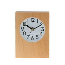 Wooden Digital Silent Alarm Clock Table Clock with Non Ticking