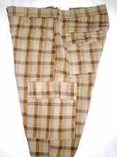 LEVIS CARGO SHORTS Relaxed fit mens BROWN PLAID