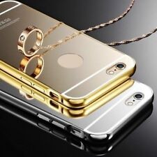 For Apple iPhone Models Luxury Ultra-Thin Aluminum View Mirror Case Cover