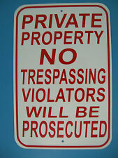 PRIVATE PROPERTY NO SOLICITING LOITERING TRESPASSING 12X18 USA Made Street Sign