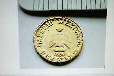 2 Great Imperio Mexicano 1865restrike Gold HGE Coins