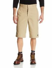 Dickies Men's 13 Inch Inseam Striped Work Short With Multi Use Pocket, Khaki