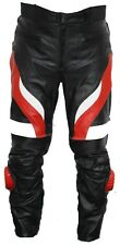 NEW MENS LEATHER MOTORCYCLE PANTS/TROUSERS  WAIST ALL SIZES