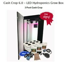 Hydroponics Grow system Kit Box 6 Plant Indoor LED Grow light water farm US Made