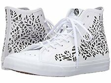 Vans Womens SK8-Hi Decon Hight Top Lace Up Fashion Sneakers, Leaves/White