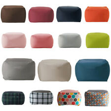 Stuffed Animal Storage Bean Bag Chair Cover Extra Large Beanbag Slipcovers