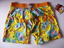 Pokemon Underwear Mens 1 Boxer Brief Starter Mob Scene Print S M L XL NWT