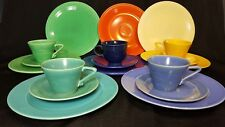 MID CENTURY MODERN FIESTA WARE green yellow turquoise cobalt blue ivory set