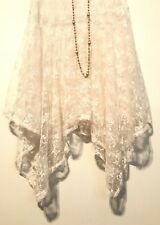 💕Beautiful Vintage Flapper Inspired Dropped Waist Sheer Lace Project Party Slip
