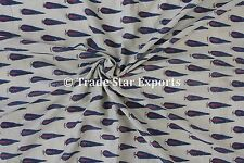 Indian Block Print Cotton Fabric Dressmaking Crafting Sewing Fabric By the Yard
