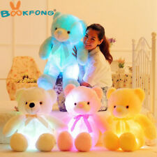 BOOKFONG 50cm Creative Light Up LED Teddy Bear Stuffed Animals Plush Toy