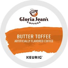 Gloria Jean's Butter Toffee Coffee 24 to 96 Keurig K cup Pods Pick Any Size