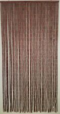 "Evideco Wooden Sticks Beaded Curtain Doorway 65 Strings Natural 78.8""H x 35.5""W"
