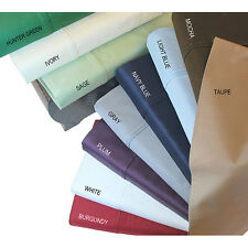 SELECT REQUIRED SIZE 6 PC BED SHEET SET 1000TC EGYPTIAN COTTON ALL SOLID COLOR
