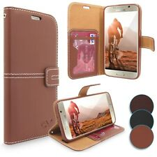 For Samsung Galaxy S6 Leather Wallet Card Slots Stand Case Cover Tempered Glass