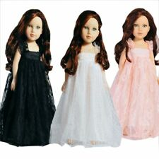 """Handmade White Wedding Clothes Party Outfit Doll Lace Dress 18"""" American Girl"""