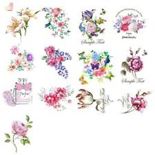 Flower Pattern Patches Heat Transfer Iron On Patch Washable Clothes Stickers DIY