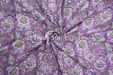 Indian Block Print Fabric For Sewing Sanganeri Cotton Voile Fabric By The Yard