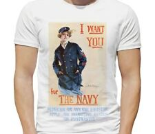 WW2 US Navy T Shirt - I WANT YOU FOR THE NAVY - WWII Recruiting Vintage Style