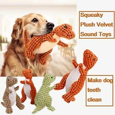 Pet Toys Squeak Plush Dinosaur Durable Chew Toy Teeth Cleaning Toy for Dogs Cats