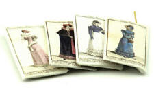 Four Victorian Dress Packets - Dolls House Miniatures - 12th Scale