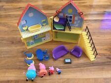 Peppa pig  house play set bundle with figures,furniture,carry handle