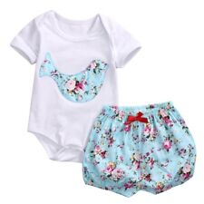 Infant Baby Girl Toddler Romper + Pants 2Pcs Outfits Sets 0-24 Month Outfits Set