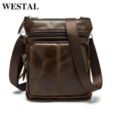 Mens Genuine Leather Messenger Handmade Briefcase Bag Satchel Shoulder Crossbody