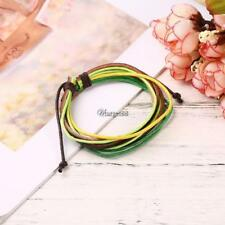 Women Casual Wide Rope Braided Layered Lace-up Bracelet UTAR