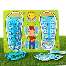 Learn To Tie Shoe Educational Toys For Kids Practice Shoe Lace Tying Board S
