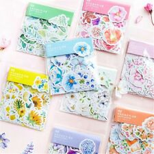 45PCS Scrapbooking Flower Stickers Decors Stationery Supply Journal Diary DIY
