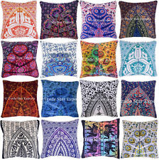 Indian Mandala Pillow Case Set Boho Square Cushion Cover Decorative Throw Pillow