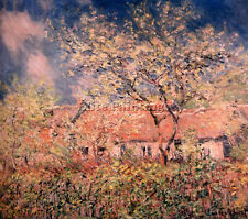 MONET SPRINGTIME AT GIVERNY ARTIST PAINTING REPRODUCTION HANDMADE OIL CANVAS