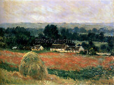 MONET HAYSTACK AT GIVERNY 1886 ARTIST PAINTING REPRODUCTION HANDMADE OIL CANVAS