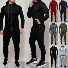 2Pcs Mens Tracksuit Hoodies Sweatshirt Pants Sets Sport Wear Sweater Casual Suit