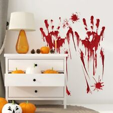 1 Pcs Wall Sticker Simulation Bloody Sticker Haunted House Theme Party Halloween