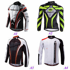 Quick Dry Mens Road Cycling Clothes Lightweight Biking Long Jerseys Breathable