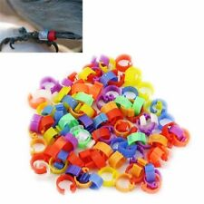 100pcs Bird Rings Leg Bands for Pigeon Parrot Finch Canary Hatch Poultry Rings